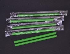 单只绿豆沙冰吸管